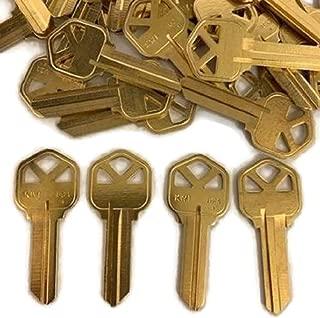 MSPowerstrange 250 Piece KE Y Blanks KW1-BR for Locksmith / KW1-BR-250BK / Solid Brass/Made by Ilco
