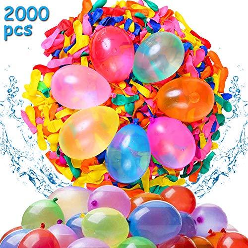 2000 Wasserbomben Wasserballons Schneller Wasserfüllballon Wasser-Bomben Schnellfüller, BESTZY Wasser-Ballons Luft-Ballon Mehrfarbig, für Geburtstagsfeier Strand Party