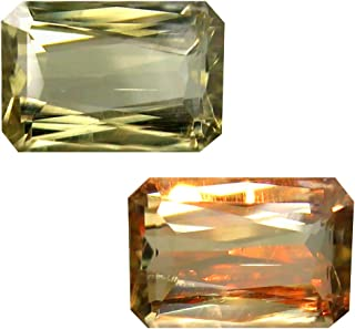 Deluxe Gems 2.69 ct Octagon Cut (9 x 6 mm) Unheated/Untreated Turkish Color Change Diaspore Natural Loose Gemstone