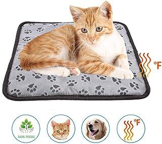 dream-cool Manta eléctrica para Mascotas - Manta eléctrica para Mascotas - Esterilla calefactora Impermeable con cojín térmico y regulador de Temperatura para Gatos, Perros, Cachorros y Gatitos