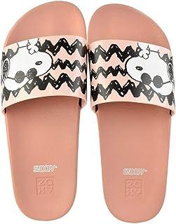 Slide Zaxy Snoopy Modern Bege Feminino