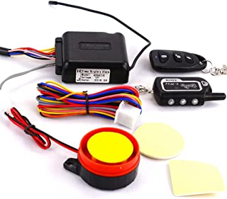 CHUANG TIAN Alarm System with Buzzer Siren 12V Motorcycle Anti-Theft Security Alarm System Two-Way Alarm