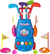 Meland Kids Golf Club Set - Toddler Golf Ball Game Play Set Sports Toys Gift for Boys Girls 2 3 4 5 6 Year Old