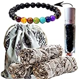 Worldly Finds Sage Smudge Sticks 6 Crystal Choices - Cleansing,Healing Crystals Gemstone Oil