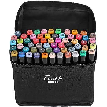 40 Colori Marker Pen Marcatori Pennarelli con Punta Fine Punta Grossa Set Penne Colorate per Disegno Colorare Arte Graffiti Sketch Regalo