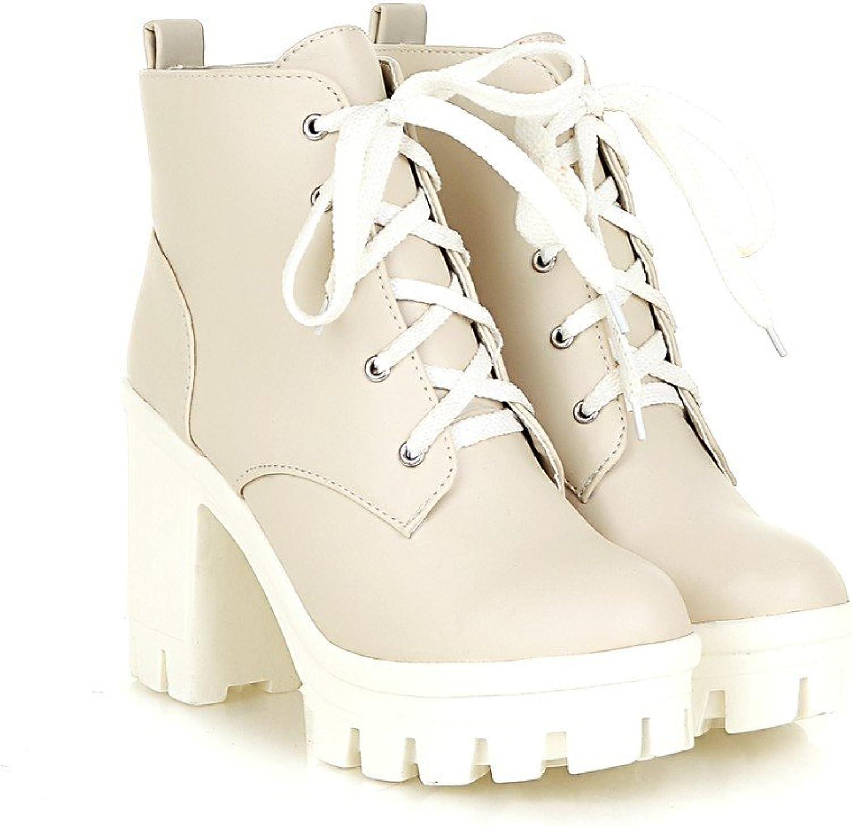 Stiefel Damenstiefel Neue Art Wasserdichte Plattform High Heel Tie Stiefelies High-Heel, B +, 36