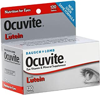 Bausch + Lomb Ocuvite with Lutein Tablets - 120 Tablets, Pack of 4