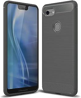 iitrust Google Pixel 3XL ケース 高級感 おしゃれ 薄型 カバー 擦り傷防止 耐衝撃 グレー C03543-C-GRY