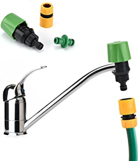 olyee Mixer Tap Hose Connector, Tap Hose Connectors Kitchen Taps, Adjustable Garden Watering Hose Pipe Connectors, Tap Acc...