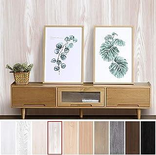 KINLO Pegatina de Mueble de Madera Ropa 0,61 * 5M Autoadhesivo Papel Pintado Impermeable para Muebles/Cocina/Baño Color (1 Rollo, Madera 2)