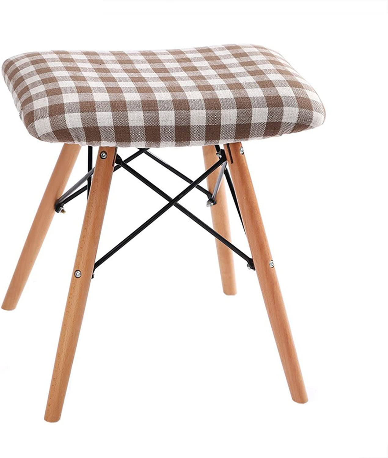 HQCC LRZLZY Solid Wood Makeup Stool Fashion Creative Computer Stool
