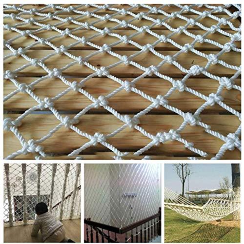 xkk Bianco Nylon Sicuro Net, Child Protective Net Stair anticaduta Net di Windows Arredamento Animale Domestico ferrovia Camion del carico Photo Wall Playground (Size : 2 * 6m(6.6ft*20ft))