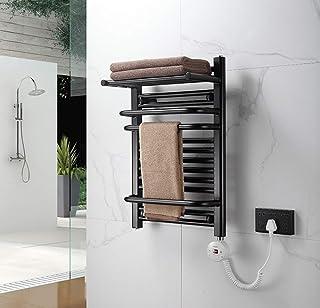 Toalla calentador eléctrico, calefacción radiador de la toalla, toallero inteligente para calentar el hotel baño en casa, constante Temperatura de secado, 800X500mm,Negro