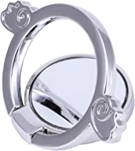 Garberty Finger Ring Stand 360° Rotation for Phones and Tablets, Angels & Demons Silver