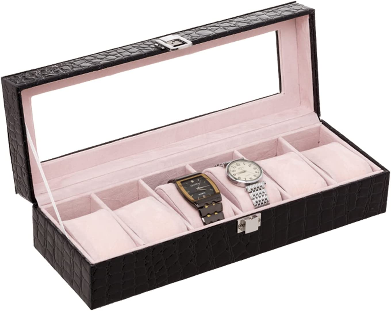 Gojiny Super-cheap Mens Over item handling Watch Display Box Slots 6 Organi Case