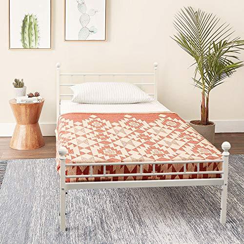 Mellow Allston - Metal Platform Bed with Built-In Slats &...