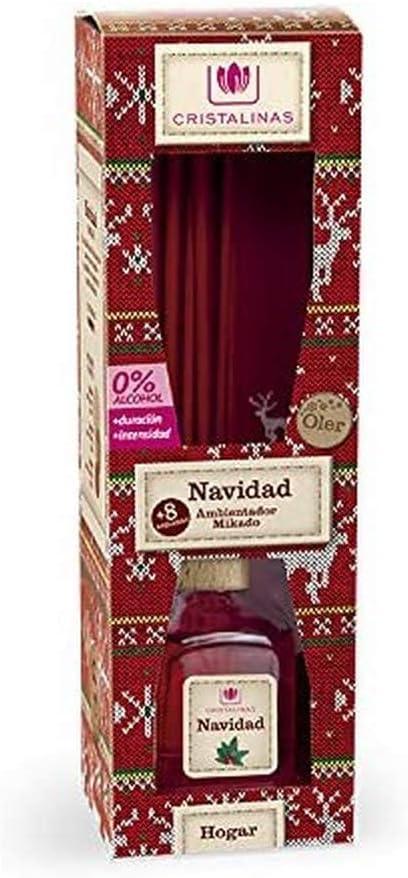 CRISTALINAS Crystal 商品追加値下げ在庫復活 新商品!新型 Clear Christmas Diffuser Red Aroma Glass