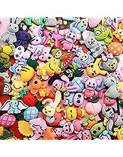 مجموعة ساحرة من سلايم - ساحرة لسلايم متنوعة فواكه حلوى حلوى مسطحة الراتنج كابوشون لصنع الحرف اليدوية، زخرفة سكرابوكينغ الحرف DIY (الحيوانات)