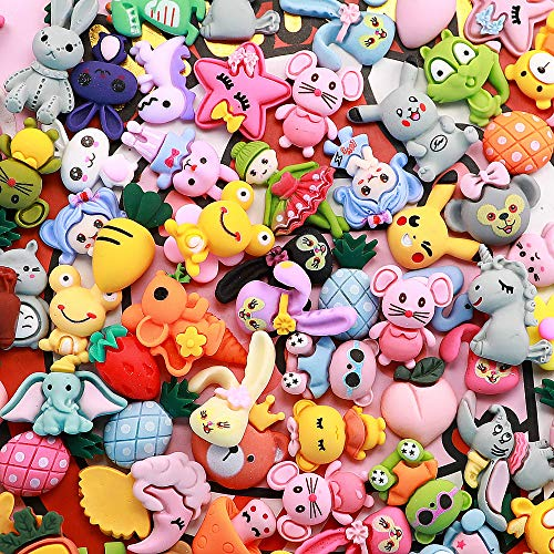 Slime Charms Cute Set - Charms for Slime Assorted Fruits Candy Sweets Flatback Resin Cabochons for Craft Making, Ornament Scrapbooking DIY Crafts (Animals)