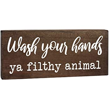 Wipe Your Butt Sign 5 x 10 inch Hanging Funny Inappropriate Wood Sign