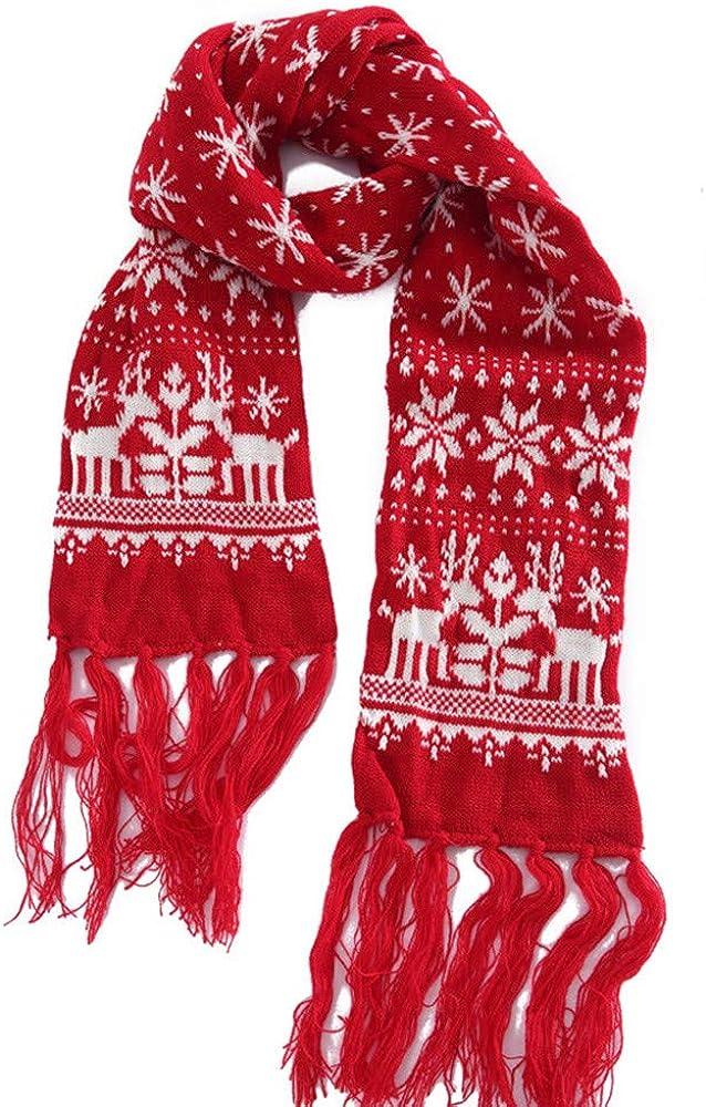 Christmas Style Scarf Snow flakes Fawn Print Lady Women Shawl Wrap Silk Feel New