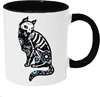 Sugar Skull Kitty Cat Coffee or Tea 11oz Mug - Perfect Gift for Cat and Animal Lovers