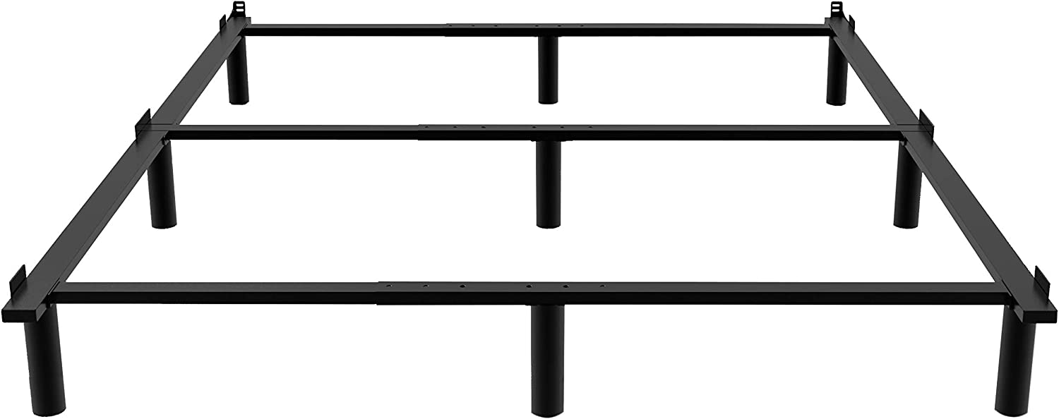 Adjustable Metal Bed Ranking TOP8 Frame Max 76% OFF for Box 9-Le Duty Heavy Spring ZIYOO