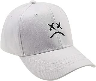 Chensheng Cotton Sad face Embroidery Baseball Cap Adjustable Dad Hat Men Women Hip Hop Cap Snapback Black White Pink Choose