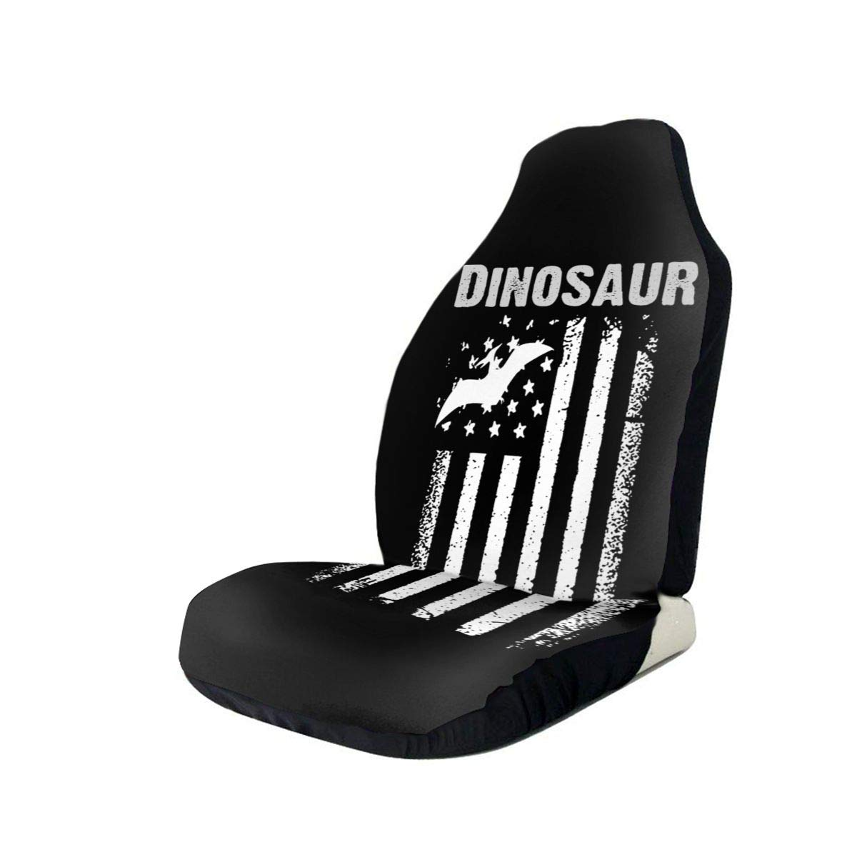 Dinosaur America Flag Car Seat Covers 3D Universal for Japan Maker New Bargain Vehicles