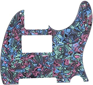 Guitar Humbucker Pickguard,Abalone Style Acrylic Scratch Plate Replacement Decor for TL Electric Guitar