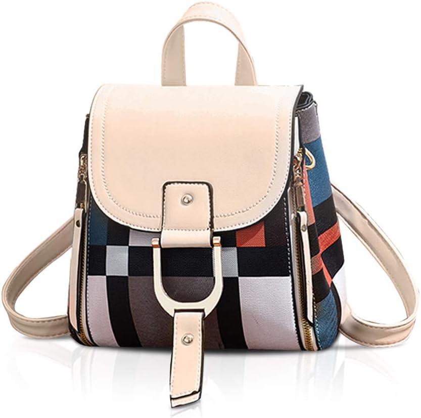 NICOLE DORIS PU Max 66% OFF Leather Large-scale sale Backpack School Bag Women Waterpro for