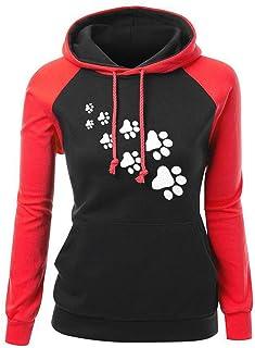 Women's Hoodies Pullover Casual Sweatshirt Ladies Long Sleeve Fashionable Hooded Jumper Loose Hoody Tshirt Tops Autumn Win...