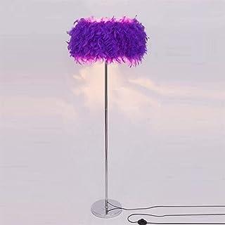 BXZ Lampadaire Plume Romantique Lampadaire Debout Plume de Chevet Liseuse Lampadaire pour Salon Chambre E27 (Blanc, Rose, ...