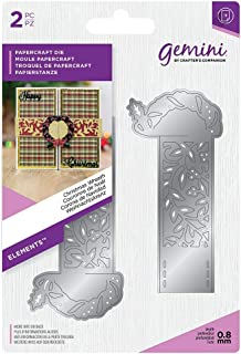 Crafter's Companion Gemini Elements Wrap Die for Cardmaking & Crafting-Christmas Wreath, Multi-Colour, One Size
