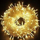 ACBungji 10M LED Lichterkette 100LED Weihnachtsbeleuchtung 8 Leuchtmodi Dimmbar Wasserfest Außen/Innen Warmweiß Beleuchtung für Zimmer Garten Weihnachtsdekoration Party Hochzeit Schaufenster