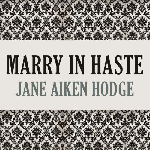 Marry in Haste audiobook cover art