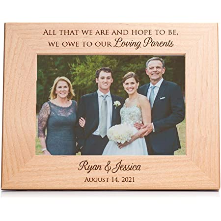 Amazon Com Personalized Parent Wedding Gift Picture Frame For Bride And Groom Gift For Parents Life Is Not Measured By The Number Of Breaths You Take But By The Moments That Take