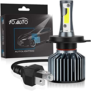H4 LED Headlight Bulb Motorcycle 9003 HB2 Headlamp 6000K, Upgraded COB Chips 4000LM High Low Beam Super Bright White Conversion Kit (pack of 1)