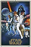 POSTER STOP ONLINE Star Wars Episode IV - A New Hope - Movie Poster/Print (40th Anniversary Gold Border Edition - Regular Style C) (Size 24' x 36')