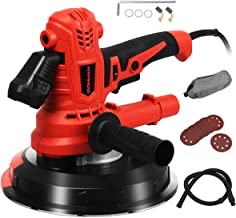 Goplus 900W Electric Hand Held Drywall Sander, Disc Sander Variable Speed with Vacuum, LED Light, 6 Sanding Papers and Dust Bag, Suitable for Ceilings and Walls (Led Spot Light)
