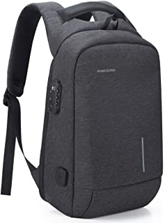 Lightweight Traveling Small Laptop Backpack, Kingsons Business Travel Computer Bag Slim Laptop Rucksack 13.3