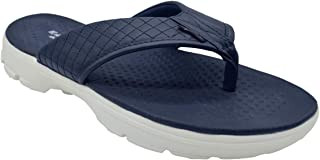 KazarMax Mens' Navy Quilted Walking EVA Thong Slippers/Flip-Flop (Made in India)