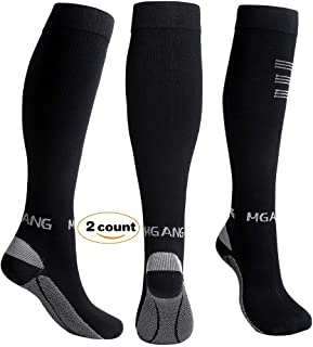 Compression Socks, 20-30mmHg BEST Recovery Performance Graduated Compression Stockings for Men Women. Athletic Sports socks, Running, Travel, Relieve Swelling, Varicose Veins, Edema, 1 Pair Black L/XL