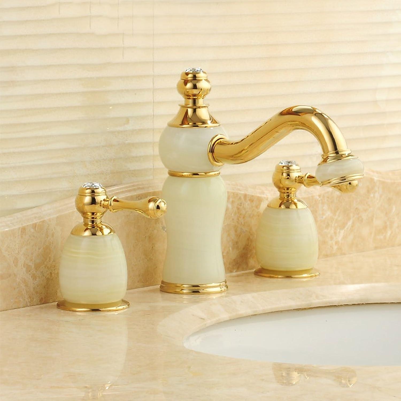 WYQLZ Europische Antike Luxus High-End-Waschtischmischer Kreative Mode Retro Heier Und Kalter Wasserhahn