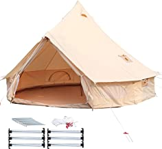 Happybuy Bell Tent 10-12 Persons Canvas Tent 4-Season Yurt Tents for Camping Waterproof..