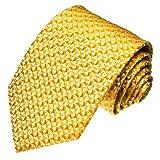 LORENZO CANA - Luxus Business Krawatte aus 100% Seide Gold Goldgelb Gelb - Schlips Binder Silk - 84060