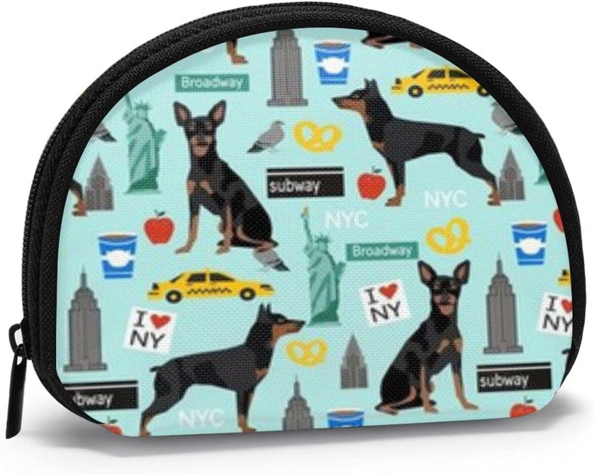 small zipper Coin Purses Vintage zipper Pouch Change Purse Wallets Miniature Doberman Pinscher Dog