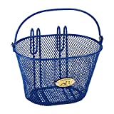 Nantucket Bike Basket Co Kid's Surfside Mesh Wire Basket, Royal Blue