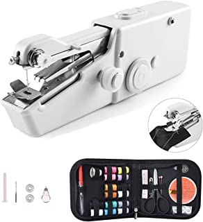 ハンドミシン Ankola ミニ電動ミシン ハンディミシン コンパクトミシン 片手で縫える 乾電池式 手持ち 裁縫道具 操作簡単 手作り 縫い物 裁縫セットおまけ付き