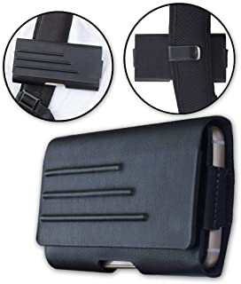 Universal Vegan Leather Pouch Medium w/Belt Clip - Black